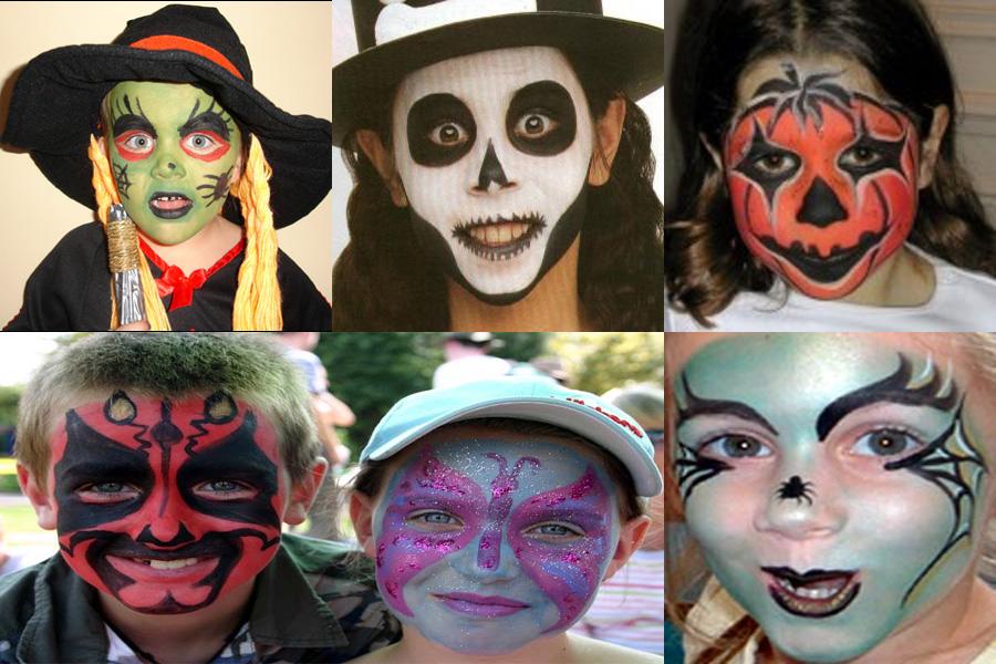 Макияж для хэллоуина своими руками для детей