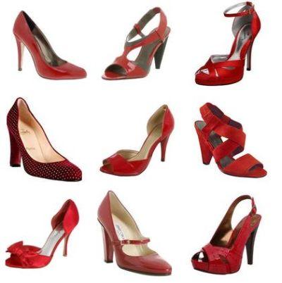 zapatos altos rojos elegantes