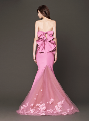 embedded_Vera_Wang_Fall_2013_Bridal_Gown_Pink_Back_View