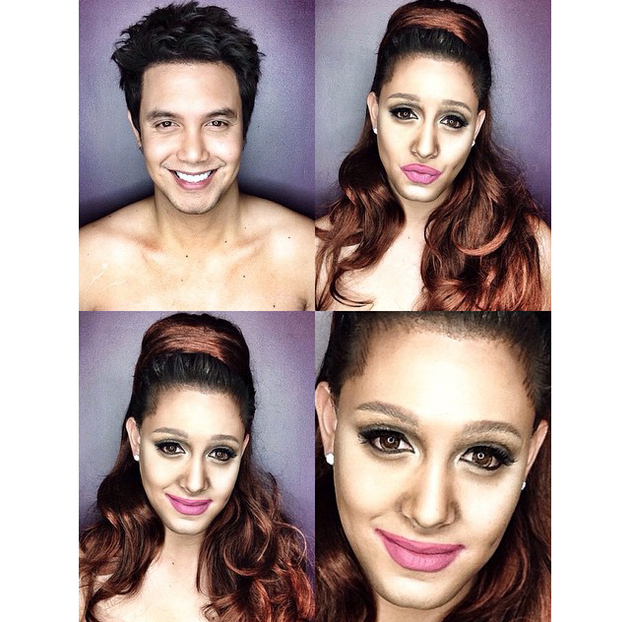 embedded_man_transforms_into_ariana_grande_with_makeup