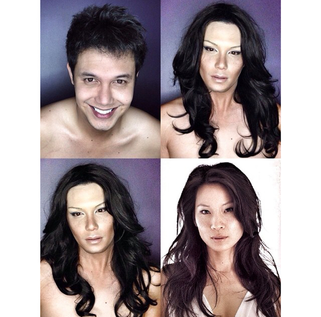 embedded_man_transforms_into_lucy_liu_with_makeup