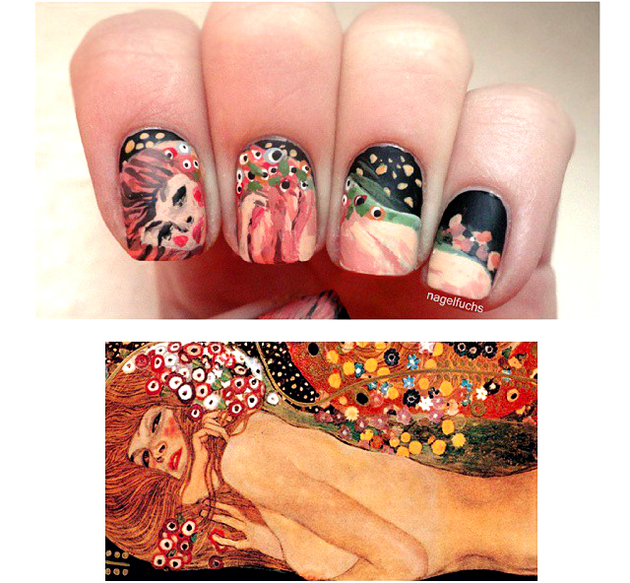 embedded_klimt_classical_art_nails