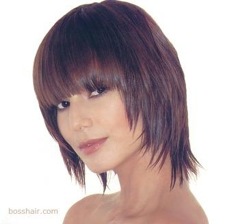 Corte de pelo desmechado con flequillo