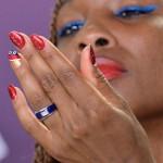 US tennis player Venus Williams looks at