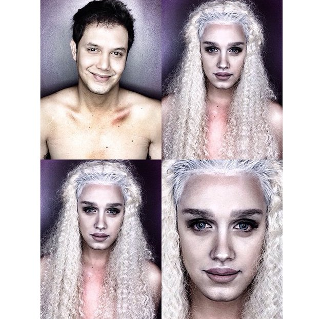 embedded_man_transforms_into_daenerys_targaryen_with_makeup