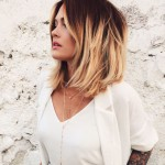 Short-dark-red-to-blonde-ombre-bob-hairstyle